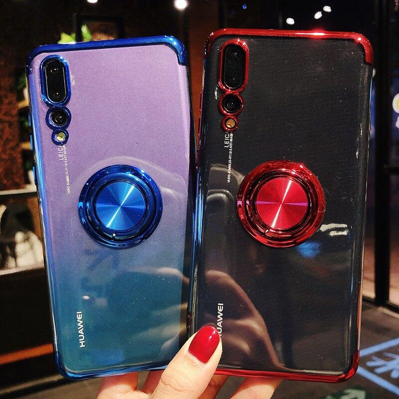 Ständer Fall Für Huawei P20 P10 lite Nova 3 Mate20 Pro Fällen Metall Magnet Halter Fall Für Huawei P30 Pro y9 2019 Mate 10 Abdeckung