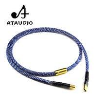 Câble ATAUDIO G5 Hifi usb plaqué argent haute qualité 6N OFC Type A-B câble DAC USB de données