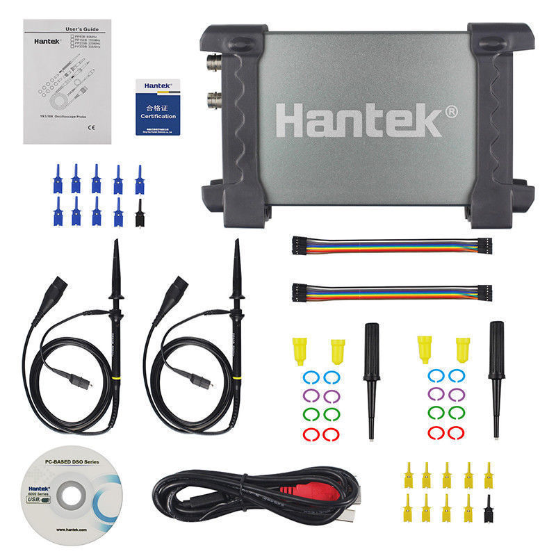 Hantek ملتقط الذبذبات الرقمي 6022BE/6022BL المحمولة الرقمية USB راسم الذبذبات السيارات التخزين 2 قنوات USB صغير راسم الذبذبات