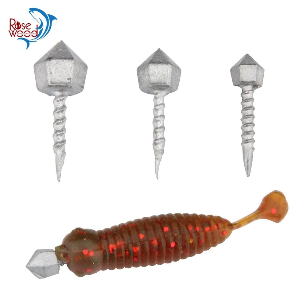 Palisandro 10 Uds. Forma de tornillo de inserción rápida plomo pesca, añadir peso del señuelo, 1,1g 1,8g 2,8g peso plomo accesorios de pesca