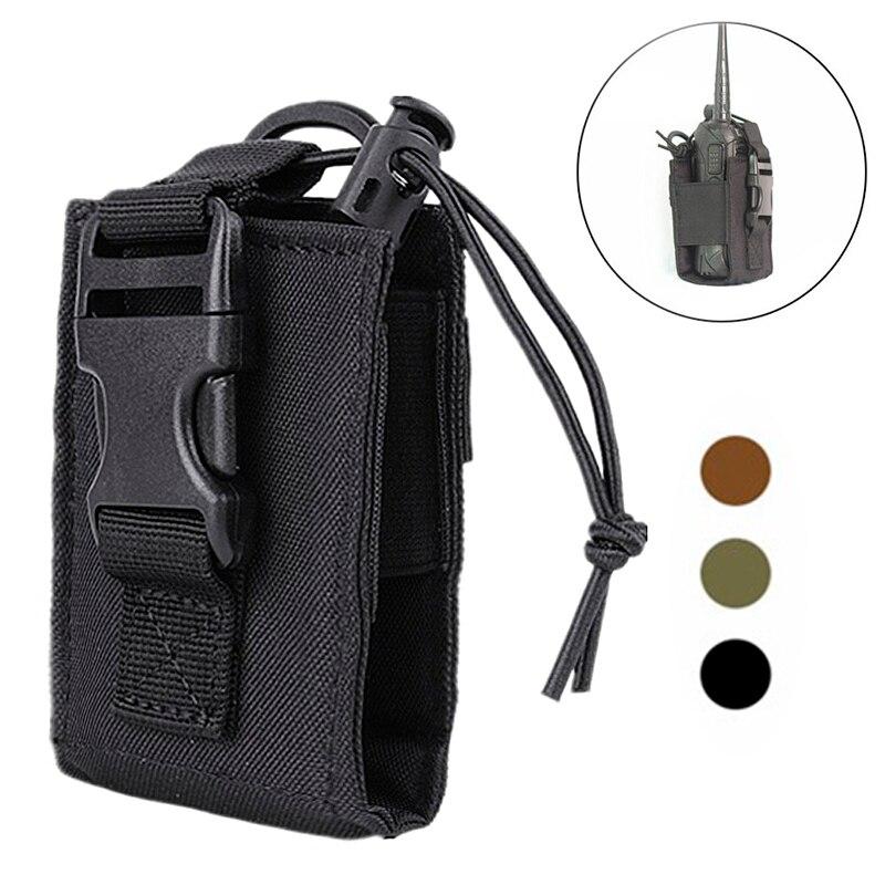 Bolsa de walkie-talkie militar táctica, bolsas de nailon Molle impermeables al aire libre, soporte colgante de Radio Walkie Talkie, bolsas de accesorios