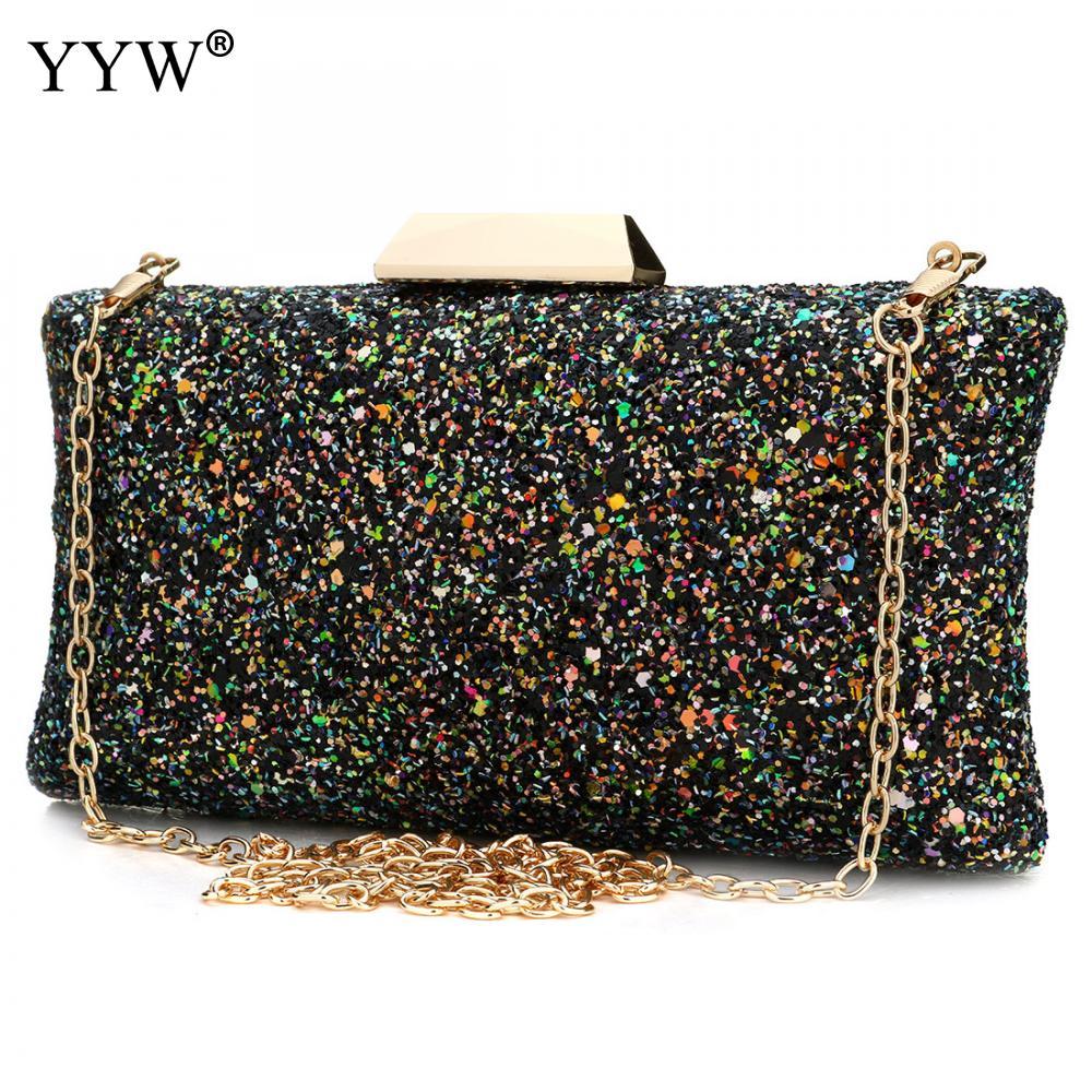 YYW-Bolso De mano De plástico con lentejuelas Para Mujer, bolsa De mano...