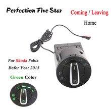 Coming/Leaving Home AUTO Headlight Lamp Switch Knob Light Sensor Module Matte For Skoda Fabia 2014 2013 2012 2011 2010 2009 2008