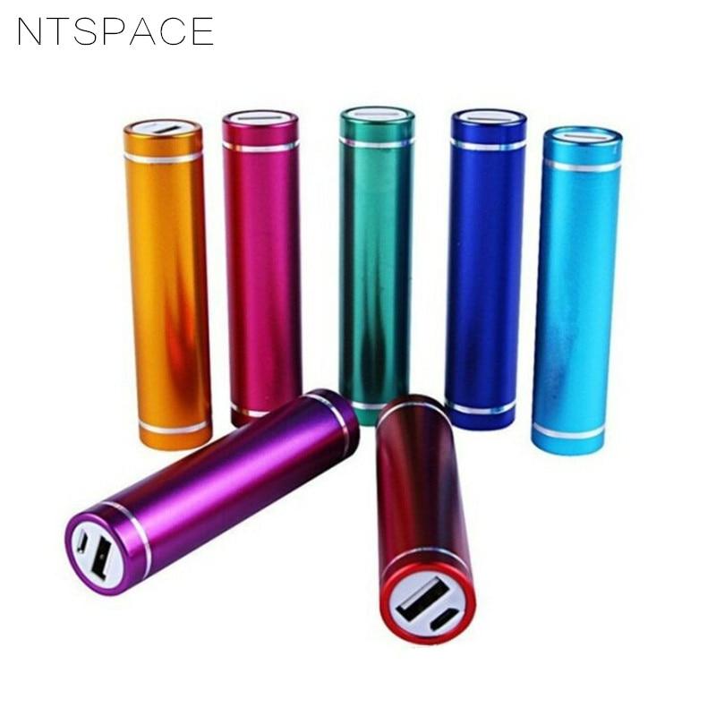 Fashion Multicolor USB 5V 1A Power Bank Suit 18650 Battery External DIY Kit Case Box Per Universal Mobile Phones Free welding