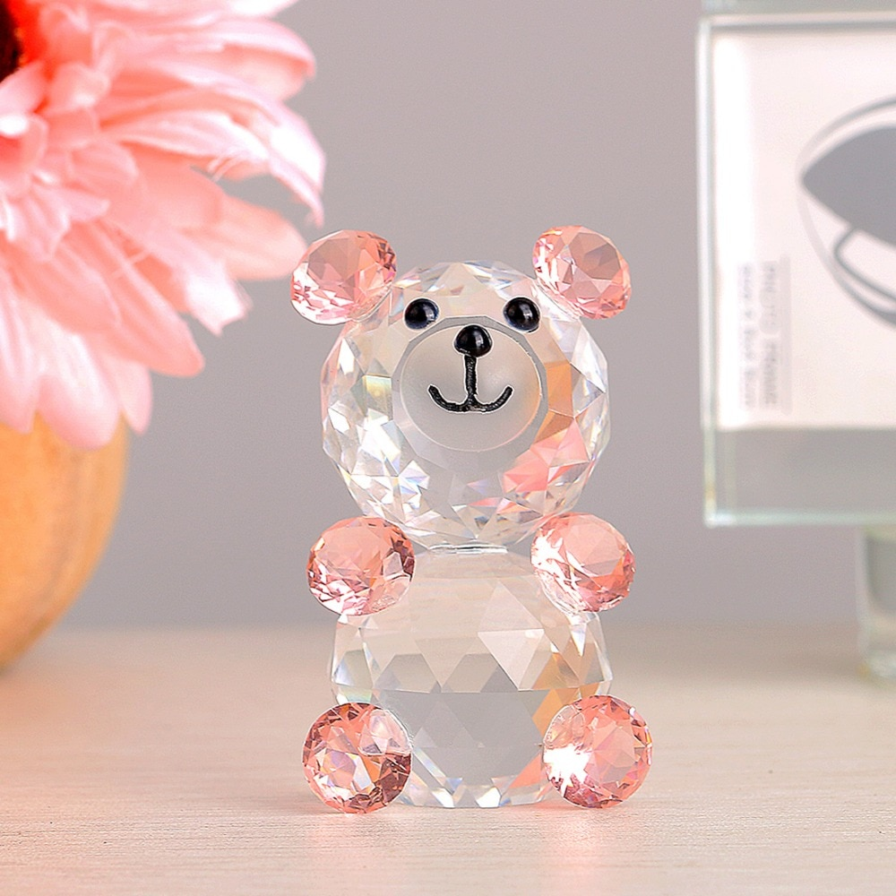 H & d fashioncraft escolha cristal coleção teddy bear figurinhas, três cores para escolheu, casamento casa decoração & xmas mas presentes
