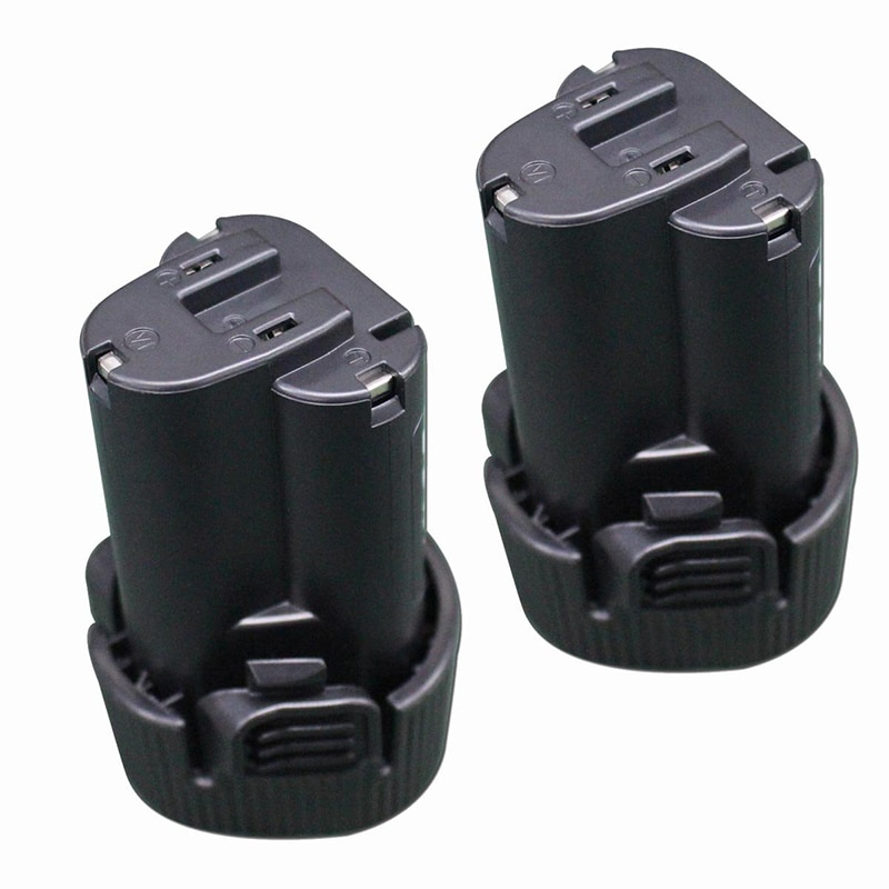 2 uds Li-ion de 10,8 V 1.5Ah de herramienta de poder de reemplazo de la batería recargable para Makita BL1013 BL1014 194550-6 194551-4 195332-9