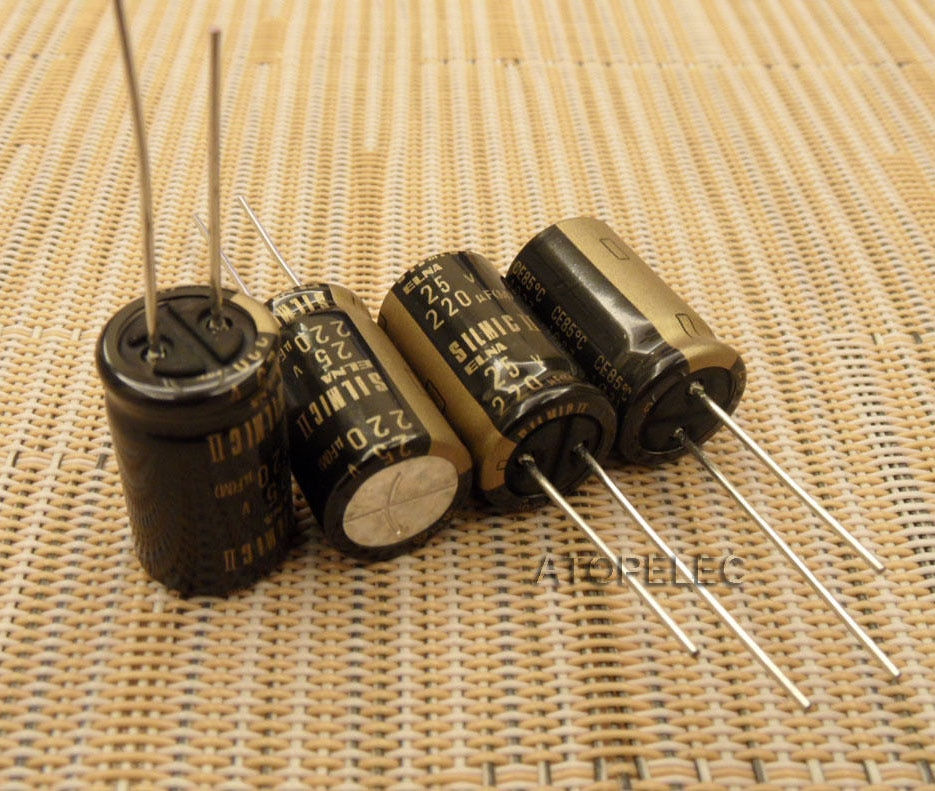 10pcs NEW ELNA SILMIC II 220uF/25V Electrolytic Capacitors HiFi Audio