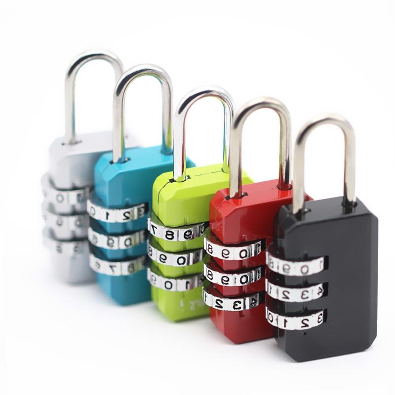 3 набора цифр кодовый замок пароль для путешествий защита для безопасности шкафчик для путешествий замок для багажа/сумки/рюкзака/ящика