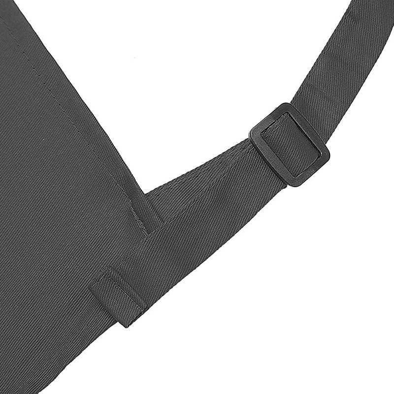 Kitchen Apron 100% Cotton Hairdresser Chef Cooking Aprons For Women Men With Pockets And Adjustable Neck Straps