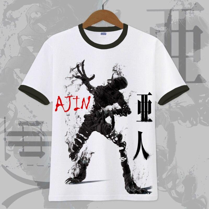 Новая футболка с аниме Ajin Kei Nagai, маскарадная футболка, летние хлопковые футболки с короткими рукавами