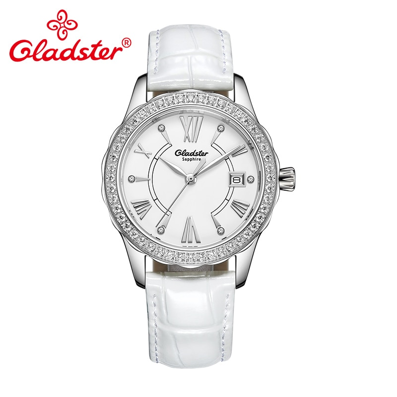 Gladster lujo Japón MIYOTA GM10 reloj de pulsera femenino de cuarzo cristal de zafiro de acero inoxidable reloj de señora Simple reloj Casual Mujer