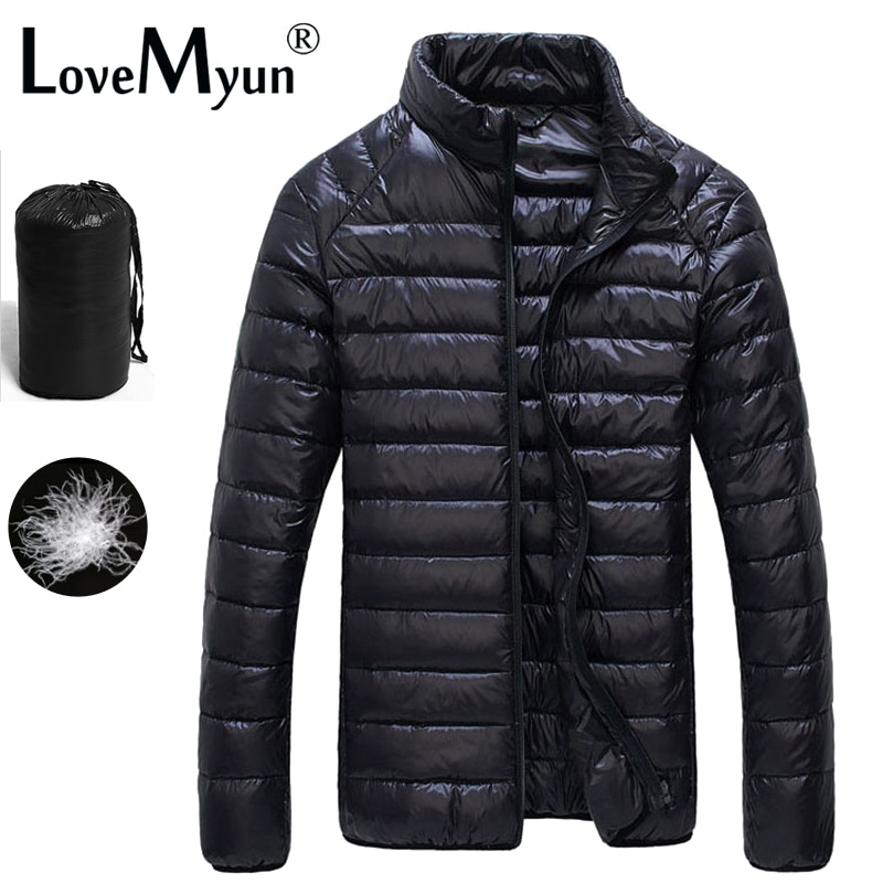 2019 Autumn Winter puffer Duck Down Jacket Ultra light Men 90% Coat Waterproof Down Parkas Fashion mens collar Outerwear coat