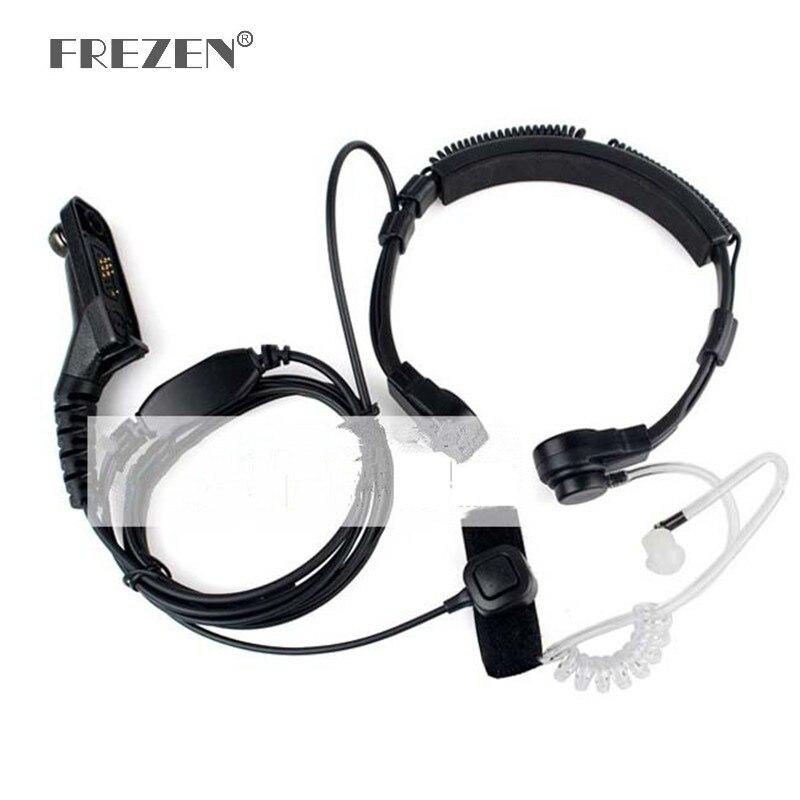 Flexible Throat Mic Mikrofon Covert Akustische Rohr Ohrhörer Kopfhörer Für Motorola XIRP8260/P8268/P8200/XPR6550 Zwei Weg radio