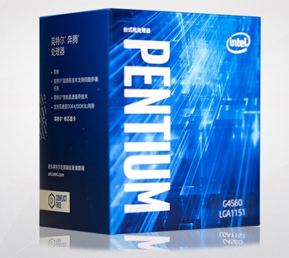 NEUE mit heizkörper original Intel Pentium G4560 Prozessor 3MB Cache 3,50 GHz LGA1151 Dual Core Desktop PC CPU G 4560 Box verison