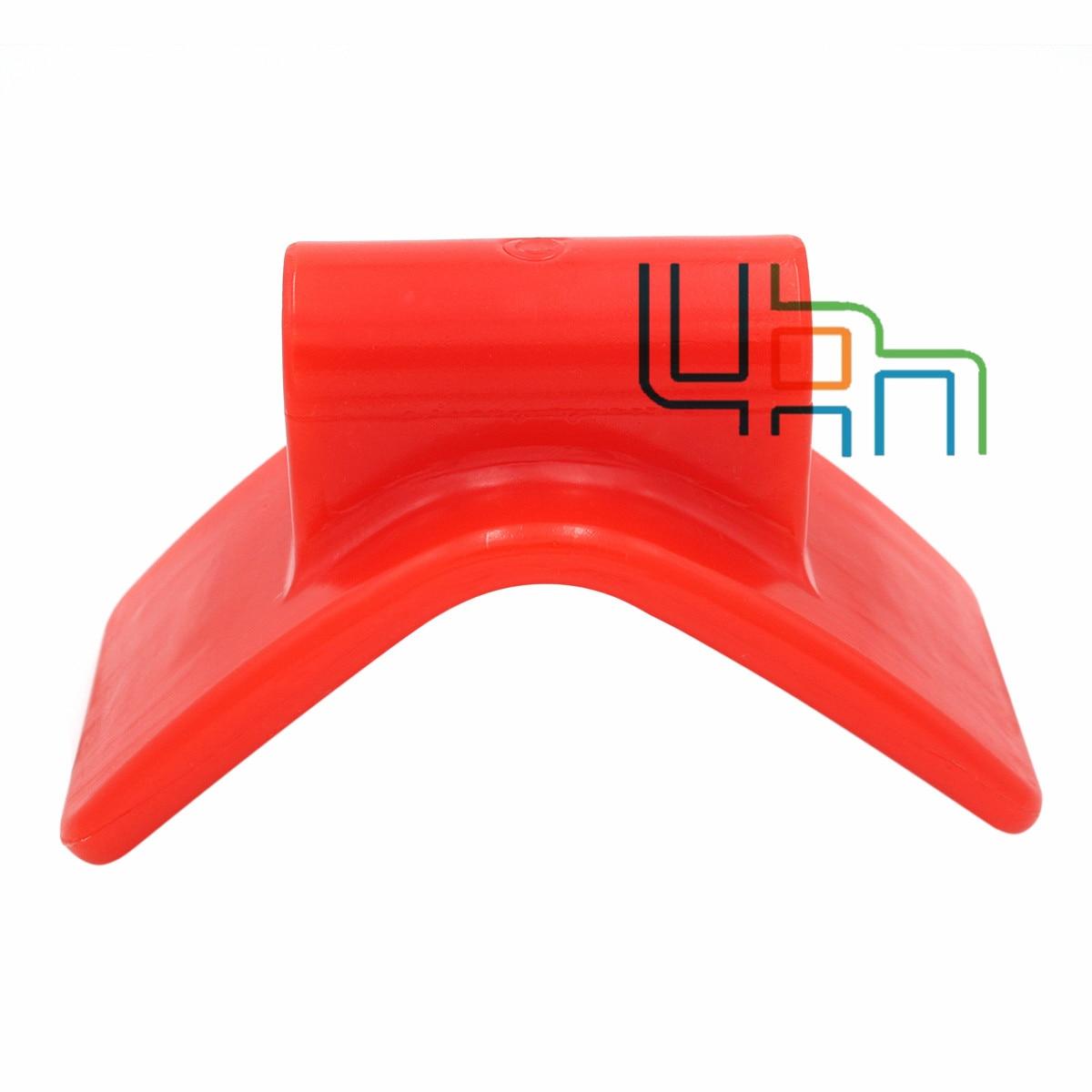 3 pulgadas v Anchura de montaje arco Stop Roller para remolque de barco no marcado rojo, poliuretano