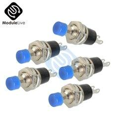 5 pces ac 220 v azul lockless ligar/desligar interruptor de botão faixa de temperatura-25-85 pressione o interruptor de reset PBS-110