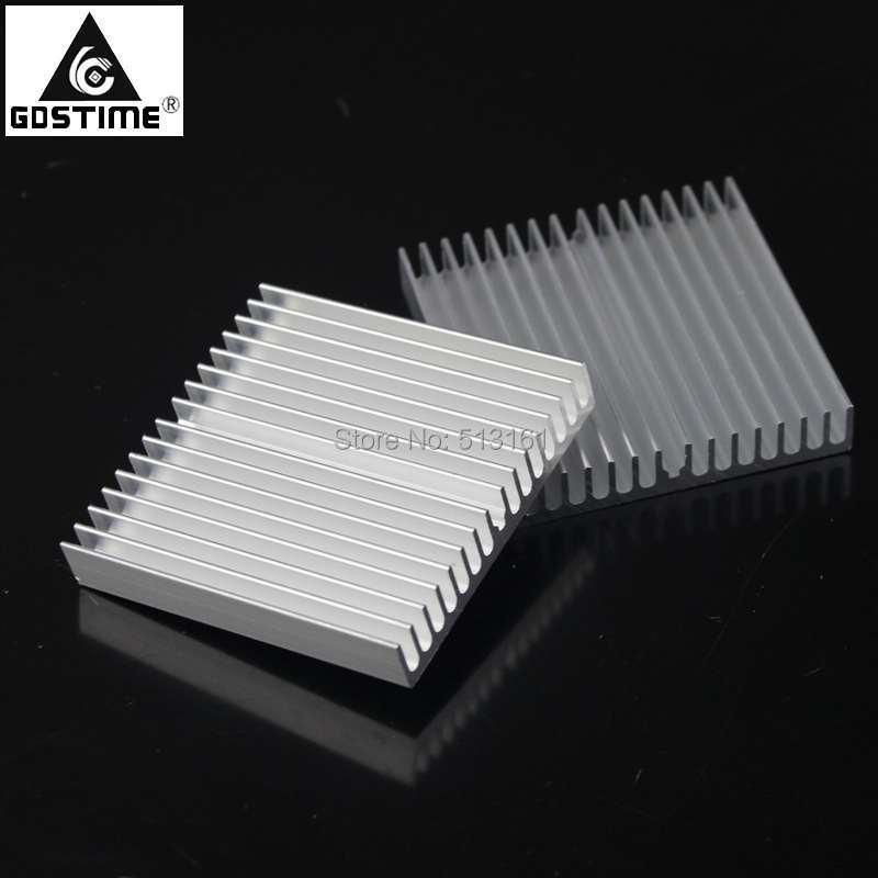 5pcs/lot Gdstime Aluminum Heatsink 60x60x10mm Heat Sink Electronic Computer Electrical CPU Cool RAM
