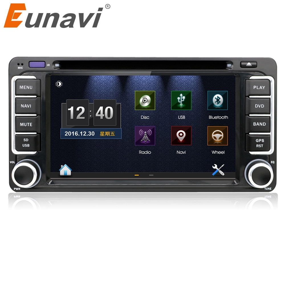 Eunavi 2 din автомобильный DVD радио плеер GPS для Toyota Hilux, Yaris VIOS Camry Corolla Prado RAV4 Prado 2003 2004 2005 2006 2007 2008