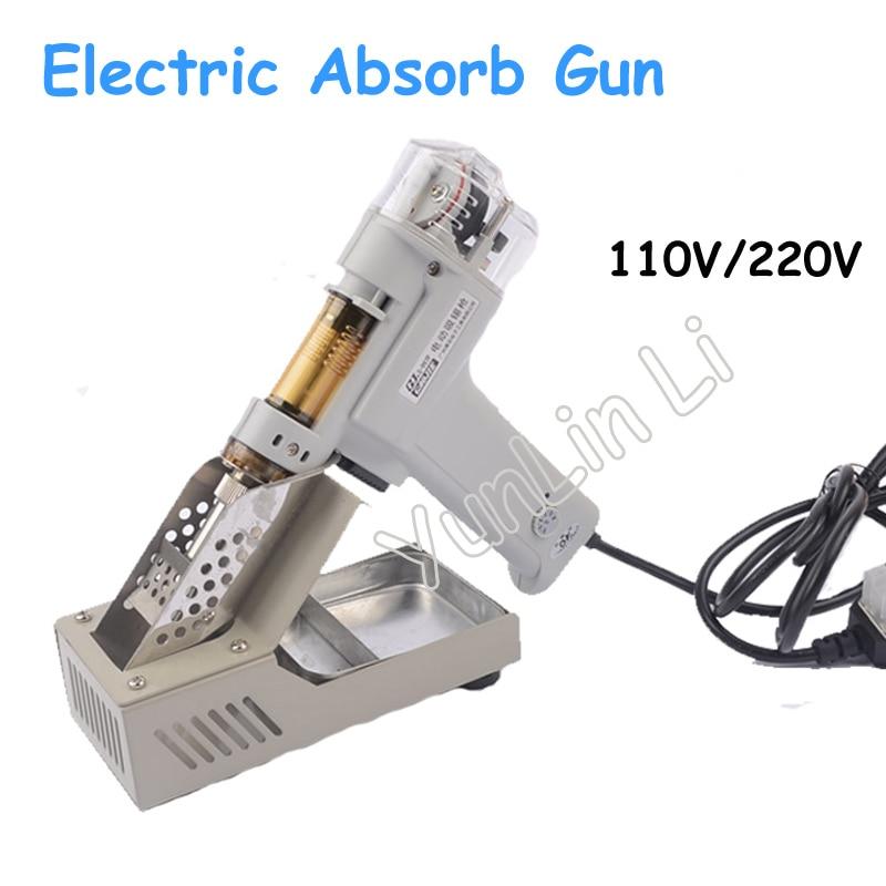 100 w elétrica absorver arma 110 v/220 v vácuo duplo-bomba de solda otário desoldering gun ferro de solda S-998P