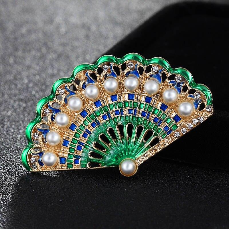 Dos tamaños personalidad hombres imitación perla cristal elegir broches accesorios mujeres bufanda Clips bijoux bolsas accesorio esmalte Pin