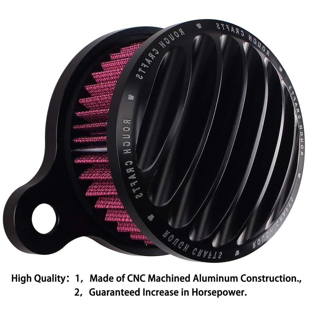 Kit de sistema de filtro de aire de admisión cromado para motocicleta Sportster XL modelos de inyección de combustible 2004-2014