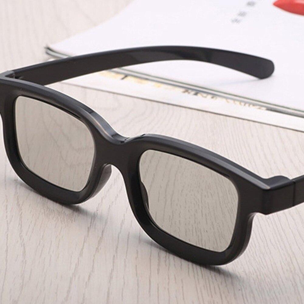 אוניברסלי פסיבי מעגלי 3D מקוטב סרט משקפיים יוניסקס ABS מסגרת סטריאו לא פלאש עבור 3D טלוויזיה בתי קולנוע