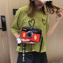 Mickey minnie bolsa bonito câmera em forma de saco para as mulheres 2019 nova personalidade mini bolsa feminina bolsa de ombro feminina