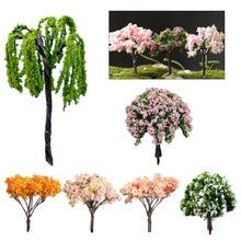 2 pçs mini miniaturas árvore micro paisagem resina artesanato bonsai estatueta jardim terrário suprimentos fadas jardim decorações
