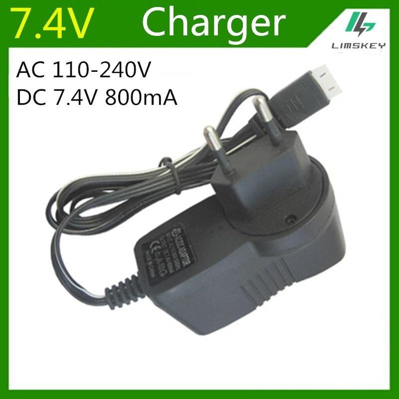 Зарядное устройство 7,4 В 800 мА для 2S Lipo, зарядное устройство для игрушек, радиоуправляемых игрушек, 3P 7,4 В, зарядное устройство для балансировки, вилка переменного тока 110-220 В постоянного тока 7,4 В 800 мА