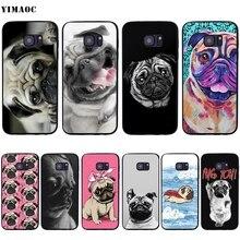 YIMAOC mignon carlin chien étui pour Samsung Galaxy A7 A8 A9 A10 A20 A30 A40 A50 A70 M10 M20 M30 S10e J6 Plus