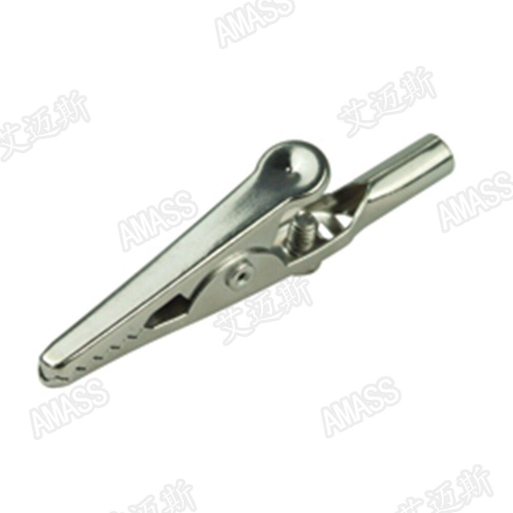 5 uds. Abrazadera de cocodrilo gruesa de hierro Amass, montaje de suelo, Gato de 4mm o cableado de tornillo