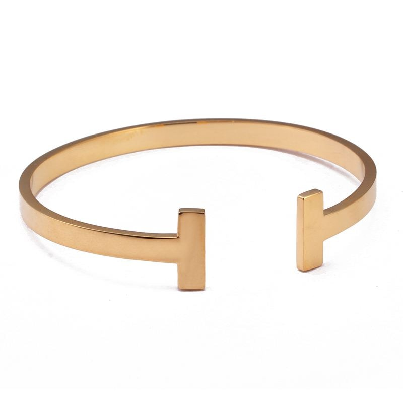 MSX Luxury Cuff Bracelet for Women Rose Gold Black Silver Gold Bangle High Quality Women Ladies Stainless Steel Bangle Bracelets