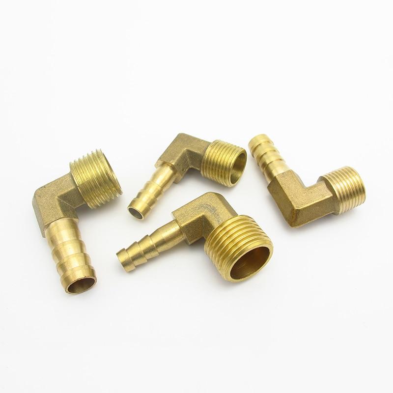 "6mm 8mm 10mm 12mm 14mm 16mm 19mm espiga para manguera 1/8 ""1/4"" 3/8 ""1/2"" 3/4 ""BSP rosca macho codo latón acoplador para ajuste de tubería conector"