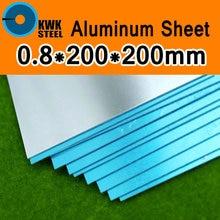 0.8*200*200mm En Aluminium 1060 Feuille Pur Plaque Daluminium DIY Matériel Livraison Gratuite