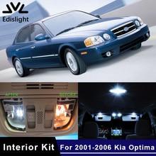 Edislight 13Pcs Ice Blue White LED Lamp Car Bulbs Interior Package Kit For 2001-2006 Kia Optima Map Dome Trunk Door Plate Light