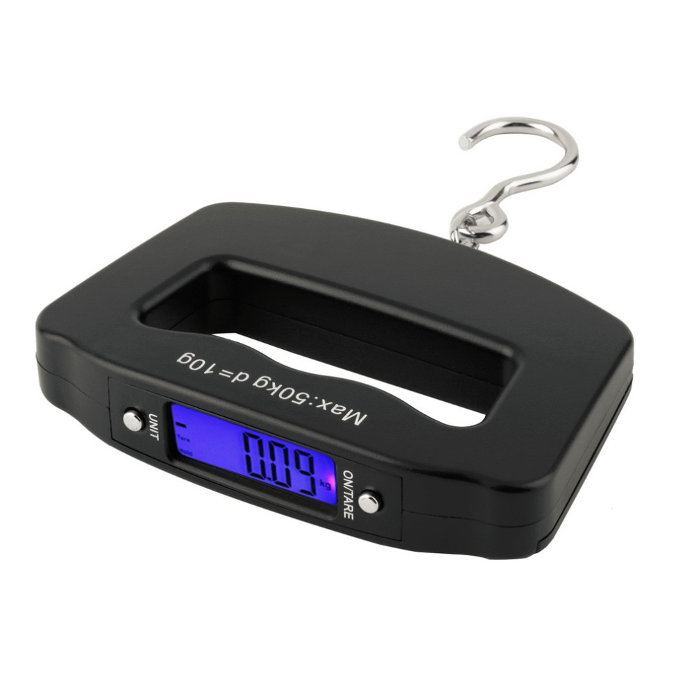 Bolso 50kg/10g lcd digital pesca pendurado balança eletrônica gancho peso bagagem