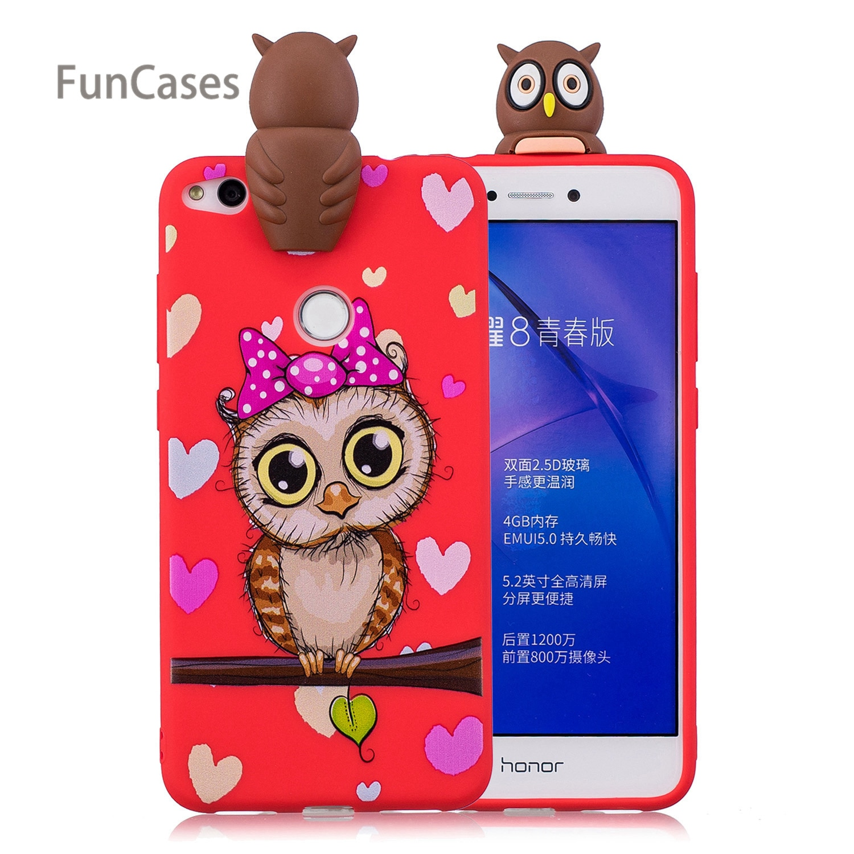Lindo Panda teléfono caso de la sFor Coque Huawei P8 Lite 2017...