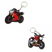3D accesorios de la motocicleta llavero de goma de la llave de cadena para DUCATI 1299 DUCATI S 1200R 797 modelo 821