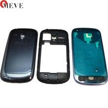 Pour Samsung Galaxy S3mini SIII s3 mini GT-i8190 i8190 cadre de plaque avant LCD support boîtier de lunette + housse porte batterie
