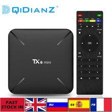 DQiDianZ TX6mini أندرويد 9.0 الذكية صندوق التلفزيون Allwinner H6 رباعية النواة أليس UX HDR 4K المزدوج واي فاي مشغل جوجل TX6 مجموعة صغيرة
