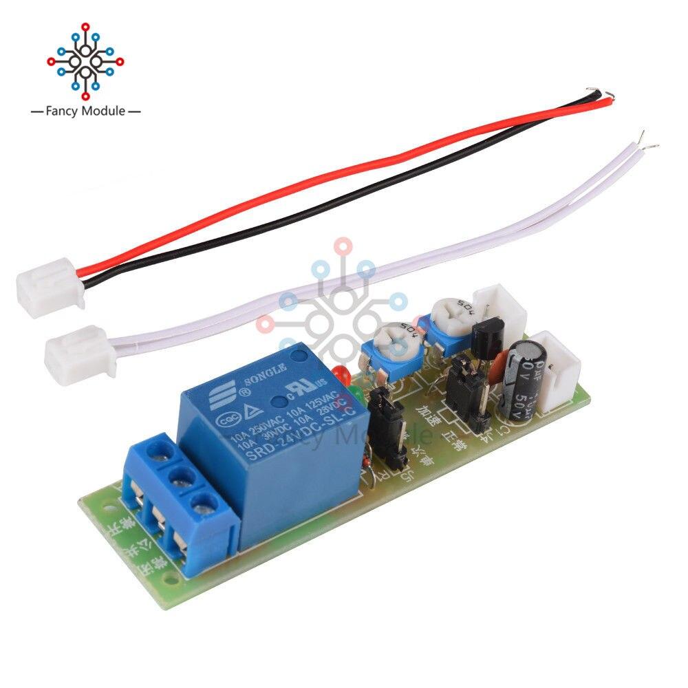 Регулируемый цикл постоянного тока 5 в 12 В 24 в 60 мин таймер Задержка включения/выключения модуль реле Плата таймер управление переключатель реле Модуль