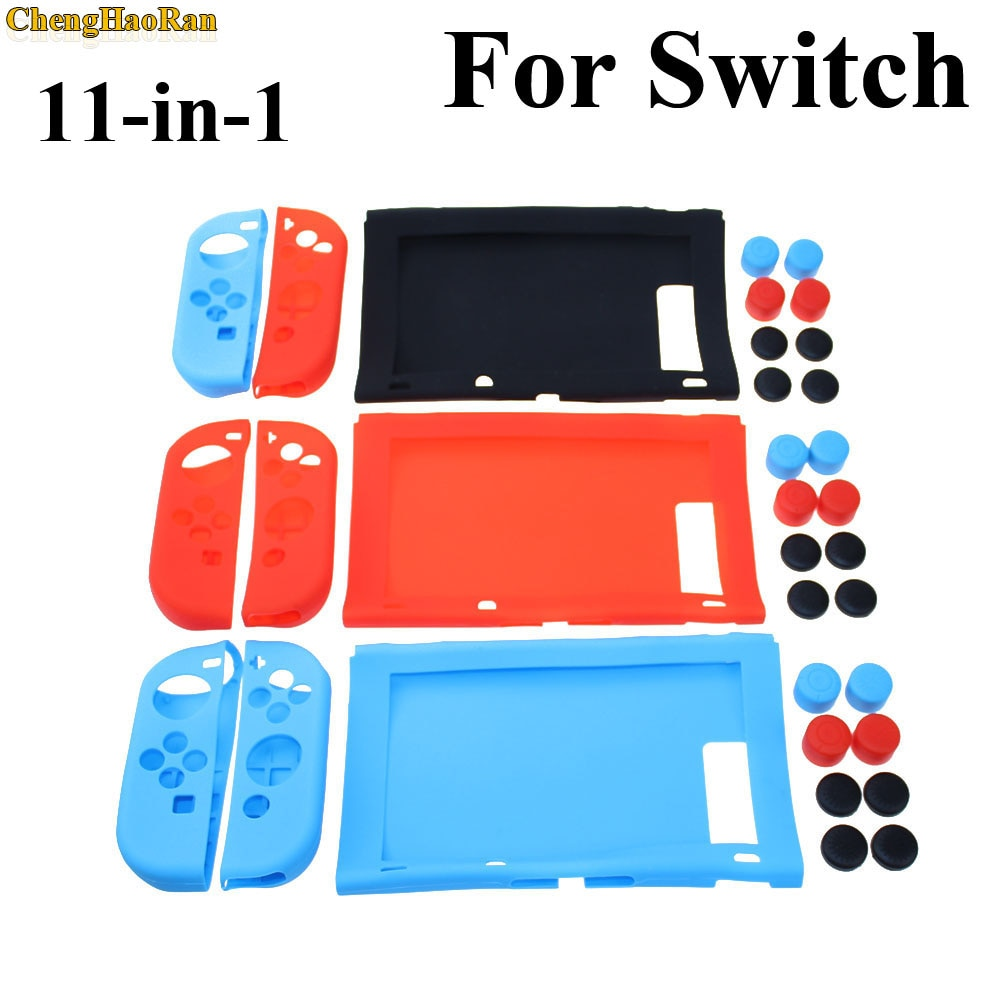 ChengHaoRan 1set Silicone protection case grips cap Set for Nintendo Switch Console NS Joy-Con Controller Anti-wear soft cover enlarge