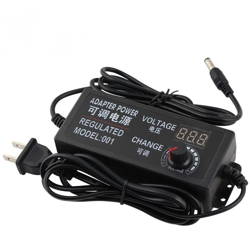 Регулируемый AC-DC 3 V-12 V 3 V-24 V 9 V-24 V Универсальный адаптер с дисплеем Напряжение регулируемое питание adatpor 3 12 24 v