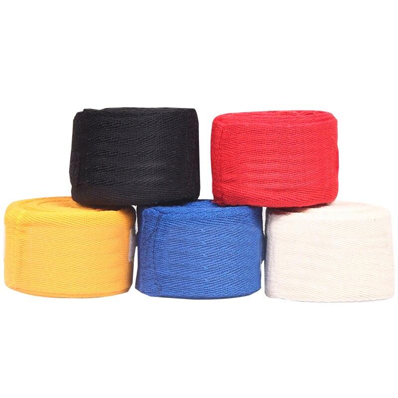 2pcs/roll Cotton 3M/5M Box Width 5cm Sports Strap Boxing Bandage Sanda  Muay Thai MMA Taekwondo Hand Gloves Wraps Adult Male