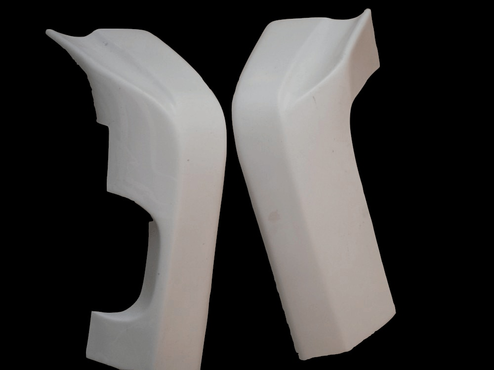 الألياف الزجاجية السيارات أجزاء ل سكايلاين R33 GTS OE يونيو نمط المصد الخلفي المشاجرات التمديد (زوج) FRP