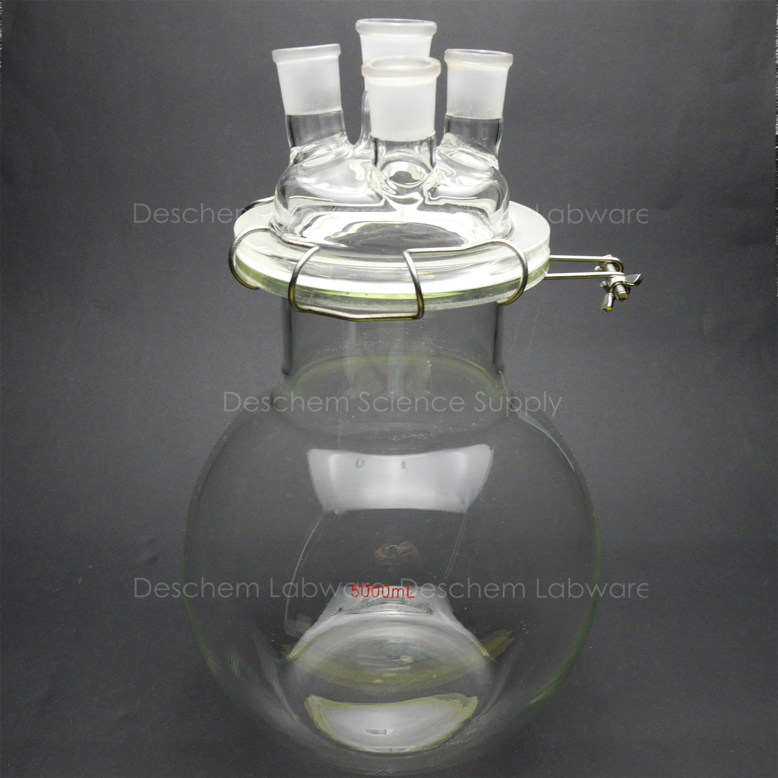 5000 ml, Vidro Vaso de Reação, 5L, 24/29, 4-pescoços, Laboratório de Química Reactor, Fundo Plano