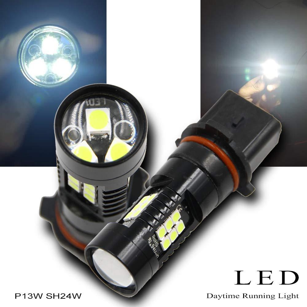 2 uds. Bombilla de luz antiniebla DRL de alta calidad PG18.5d P13W SH24W PSX26W 6000K blanco Bombillas de faros LED