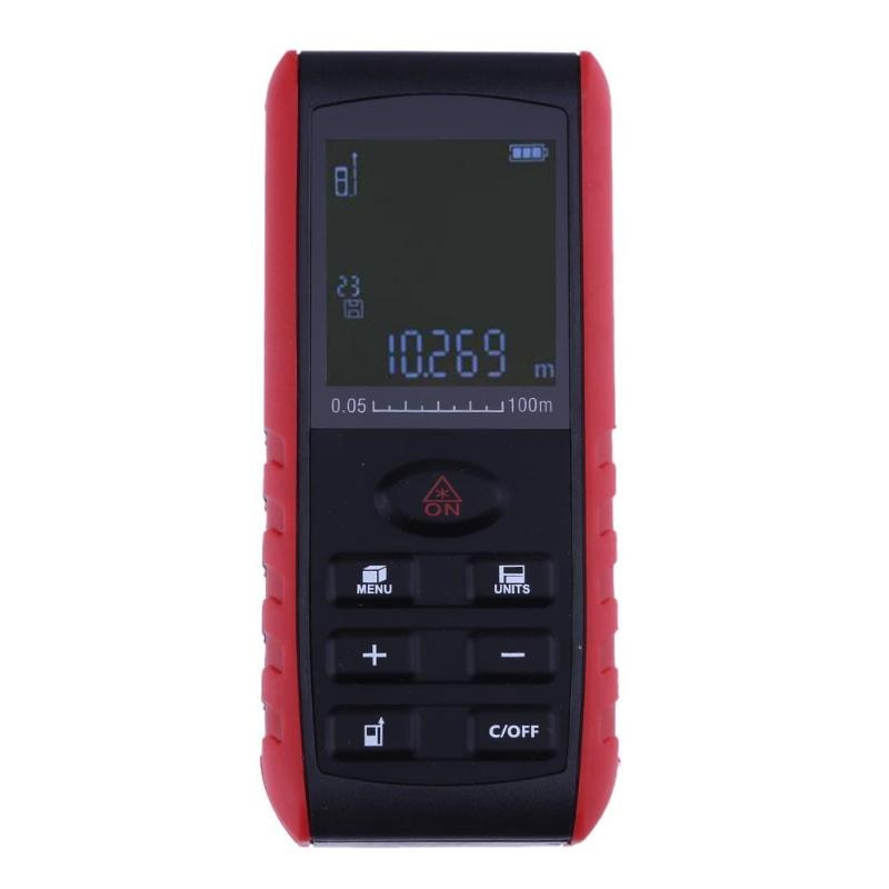 Medidor de distancia láser 60M 100M láser telémetro cinta láser buscador de rango trena gobernante y accesorios osciloscopios medida la ruleta