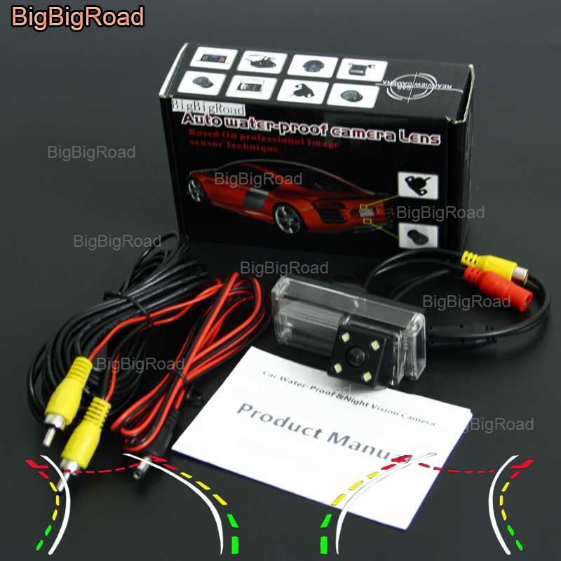 Автомобильная интеллектуальная динамическая гусеничная камера заднего вида BigBigRoad для Toyota Land Cruiser 200 2015 LC200 LC100 LC120 Prado