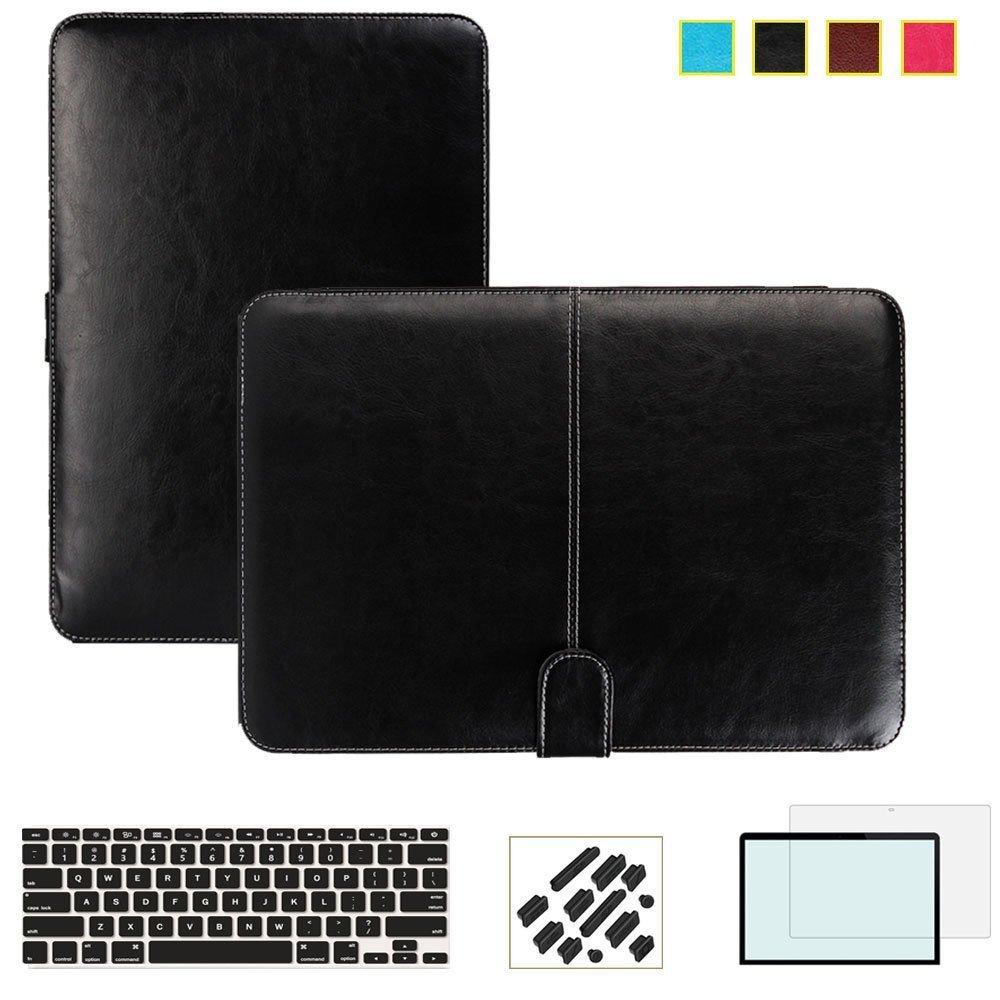 Funda inteligente RYGOU Business de piel sintética para Apple MacBook Air Pro Retina 11 12 13 15 pulgadas cubierta protectora completa